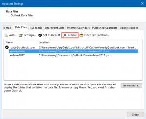 Outlook Archiv richtig anlegen